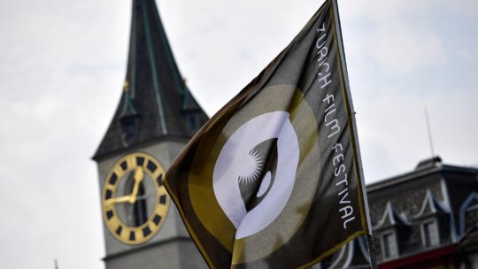 ZURICH, SWITZERLAND - SEPTEMBER 23:  A flag of the festival are displayed during the 12th Zurich Film Festival on September 23, 2016 in Zurich, Switzerland. The Zurich Film Festival 2016 will take place from September 22 until October 2.  (Photo by Alexander Koerner/Getty Images)